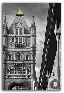 Black & White glory of London Tower Bridge on the River Thames