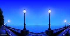 A Blue Evening Stroll (jaland0ni) Tags: blue night evening gentle soft kindness quiet silence stroll wander breathingtheair breeze lovely water graces prayer meditation
