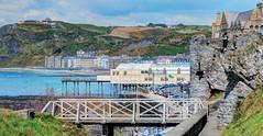 Aberystwyth Panorama (Borderline UK) Tags: elements aberystwyth wales panorama dmcfz200 seaside pier