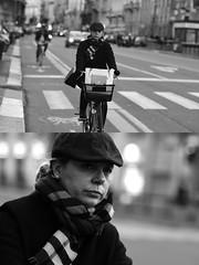 [La Mia Città][Pedala] (Urca) Tags: milano italia 2017 bicicletta pedalare ciclista ritrattostradale portrait dittico bike bicycle biancoenero blackandwhite bn bw 993131 nikondigitale scéta