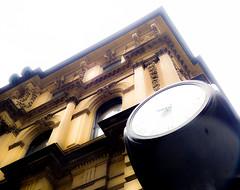 c'est l'heure de viser plus haut (photosgabrielle) Tags: photosgabrielle urban ville city montreal urbain streetphotography building clock