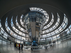At the bottom looking up (neil.bulman) Tags: reichstag germany reflection dom glass modern berlin easter
