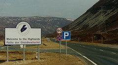Welcome to the Highlands A9 (J_Piks) Tags: road border highlands welcome sign roadsign scotland a9