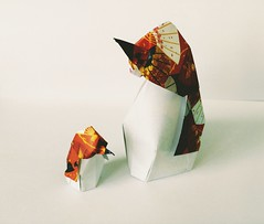 Origami - pinguino penguin (leti:::::::) Tags: origami origamiart pinguino penguin art arte simbolo simbols polosud southpole ghiaccio ice giappone japan scacciapensiero howtomake animals animal fish pesce