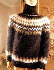 Icelandic mohair turtleneck wool sweater (Mytwist) Tags: tigrisina mohair hand knitted not fluffy icelandic brown tneck sweater jumper sexy lopi wool fashion style modern sylish retro woolen design love passion laine turtleneck rollneck iceland lettlopi
