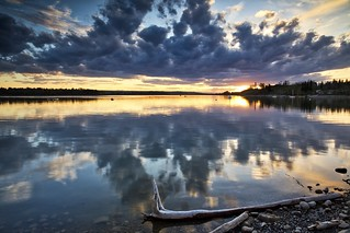 Glenmore reflected clouds sunset