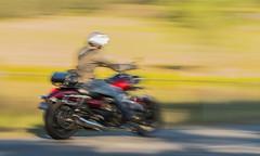 Bike-rider_DSC9212 (Mel Gray) Tags: slowshutterspeed blur motion motionblur movement motorbike wollombi newsouthwales hunterregion australia