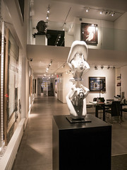 Contortionists (UrbanphotoZ) Tags: sculpture artgallery contortionists night closed storewindow loft paintings desk office eastside madisonave manhattan newyorkcity newyork nyc ny