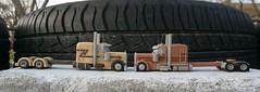 """Peterbilt 379 EXHD """"Texas Star"""" & Peterbilt 389 Fitzgerald Glider Kits  Scale model trucks 1/100 (Plast&Cars) Tags: peterbilt 379 exhd texasstar 389 fitzgerald glider kits scale model trucks 1100 plast cars"""