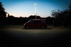 Not Neopan (but it will be) (Barnaby Nutt) Tags: volkswagen vw t4 transporter long exposure evening twilight led street light
