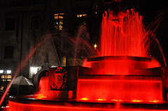 Running red (Roving I) Tags: fountains night lighting frenchvillage banahills danang vietnam tourism attractions