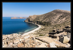 Titicaca : ruines de Chincana - Palacio del Inca (M@P31) Tags: sonya77 landscape isladelsol andes sigma1770c palaciodelinca 2016 tempe lac paysage inca bateau chincana titicaca bolivia cordillère bolivie thaki lago altiplano
