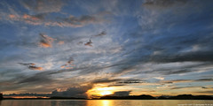 2017-05-12 Sunset (01) (2048x1024) (-jon) Tags: anacortes skagitcounty skagit washingtonstate washington salishsea fidalgoisland sanjuanislands pugetsound washingtonpark sunsetbeach rosariostrait guemeschannel pacificnorthwest pnw cloud clouds sky sunset water reflection composite stitched a266122photographyproduction
