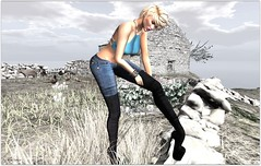 fitmesh jeans and boots_001 (Moni Carissa) Tags: fitmeshdesignerexpose anastyle jeans top bracelet boots hair truth 7deadlyskins theblackstylefair nove noor maitreya bento lelutka blond wetcat pose costablanco