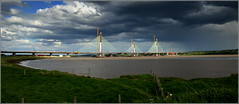 Mersey Gateway Project 14th May 2017 (Cassini2008) Tags: merseygatewayproject cablestayedroadbridge bridgeconstruction rivermersey runcorn widnes