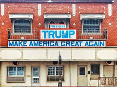 I wonder who they voted for (DeeAshley) Tags: random weird trump sign storefront onlyinthesouth makeamericagreatagain words type typography