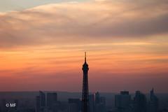 Higher (MF[FR]) Tags: sky sunset clouds europe orange paris france eiffel tower samsung tour ciel coucher de soleil nuage la défense nx1