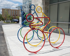 """Acceleration"" Functional Bike Racks Sculptures (2016) by Scott Van Campen, The Corporate Park of Staten Island, Bloomfield, New York City (jag9889) Tags: 2017 20170508 architecture art artwork bicycle bike bloomfield building cycling house kunst ny nyc newyork newyorkcity outdoor rack richmondcounty sculpture skulptur statenisland streetart usa unitedstates unitedstatesofamerica jag9889 us nicotra"