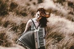 3,2,1...Let Go (Delissa McWilliams Photography) Tags: accordion music vsco portrait redhead conceptual abstract delissamcwilliamsphotography lauren kenny camber sands east sussex growth no limitations