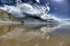 Why birds follow spring (pauldunn52) Tags: cwm nash glamorgan heritage coast wales storm wet sand sea reflections