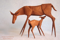 Happy Mother's Day! (Sunny Marmalade) Tags: origami deer baby mothers day paper folding