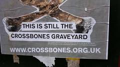 Outside The Cross Bones Garden Of Remberance. Southwark. (standhisround) Tags: crossbones southwark borough london uk england garden memorialgarden gardenofremembrance outdoors outside poster