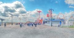 Coney Island Pastel (artsynancy) Tags: coneyisland brooklyn coneyislandbrooklyn spring amusement throwback urban seaside shore boardwalk carousel entertainment newyorkcity newyork brooklynnewyork