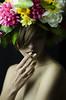 Beautiful L. (Giovanna Intra) Tags: retrato portrait ninfa nymph fiori flowers flores coronadifiori ghirlanda chica girl ragazza cigarette sigaretta cigarro smoke fumo piercing septum