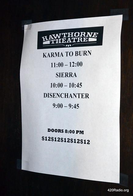 Karma To Burn - Hawthorne Theatre - Portland, Oregon - 02/06/15