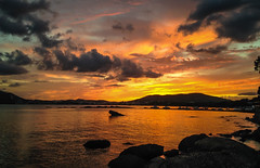 Sunset's one of the best things about Ibiza ☺ (The city guy ☺) Tags: island balearicislands seashore seascape sea walking waterways walkingaround lateafternoon sunset outdoors travelling tourism beach beachscape colors clouds