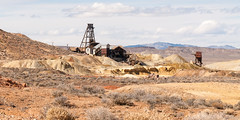 Florence Hill Mines (nikons4me) Tags: goldfield nv nevada florencehillmines mining headframe clouds semighosttown nikond200 nikonafsdx18200mmf3556gifedvr gold