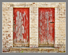 Doors 01 (Alistair_Images) Tags: doors grunge abstract dunure harbour lifering canon 60d