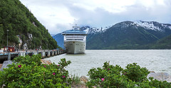 In Port...  Alone! - Explore (June 30th, 2017 - #235) (TQTran) Tags: princesscruises islandprincess princess cruise ship cruiseship dock docked skagway alaska ak