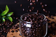 Coffee beans (alensstudio) Tags: arabic bean beverage black brown breakfast cafe caffeine coffee drink energy food fresh freshness green jar natural organic plant seed
