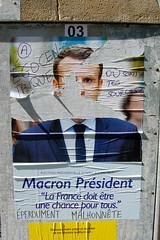 Macron (pierre-alain dorange) Tags: élections présidentielles 2017 affiches affiche