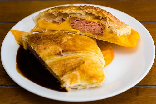 Jalapeño Spam and smoked cheddar sausage roll