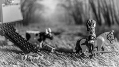 Hard work (The Aphol) Tags: lego legography legophotography minifigures toy toyphotography cowboy oldwest wildwest bw alien scifi rescue western