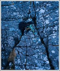 Baddidarroch Blues (mistymornings99) Tags: seaweed blue tide triangle hour baddidarrach closeup bluehour photostyles coast ropes rocks