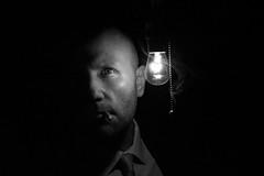self portrait (Donald Palansky Photography) Tags: sony slta99v 50mmf14 sonyslta99v donaldpalansky light bulb strobist