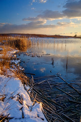 shared with pixbuf (jrobfoto.com) Tags: apsc fuji raw slough snow springbrook prairie sunset water winter xtrans x100f springbrookprairie