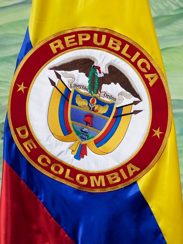 Colombian Seal on Flag