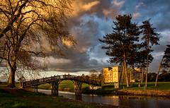 Chinese Bridge (cliveg004) Tags: chinesebridgecroome chinesebridge croome croomepark worcestershire nationaltrust nt sunset sky clouds settingsun river lake park water nikon d5200 1685mm