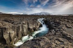 White mountains and white water (Kadu Flyer) Tags: mountain river snow iceland hafrafell geitá geitlandshraun waterfall lava