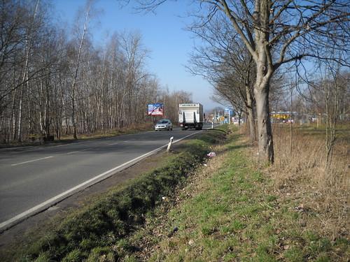 B 173 östlich von Zwickau