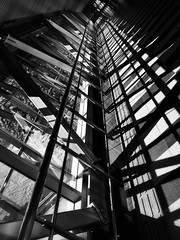 355/365 Perspective (Xiaole wy & JV William) Tags: ricoh gxr a12 28mm f25 black white street photography texture pattern metal glass light shadow perspective