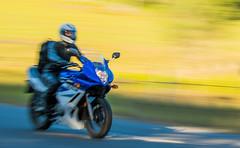 Blue-bike_DSC9219 (Mel Gray) Tags: slowshutterspeed blur motion motionblur movement motorbike wollombi newsouthwales hunterregion australia