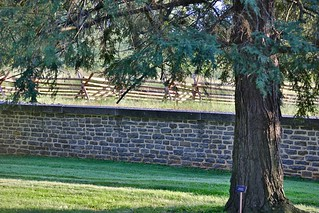 The Gettysburg National Cemetery - part of the surrounding wall