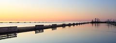 In the Stillness (Note-ables by Lynn) Tags: water sunset lakeontario portdalhousie minimalism serene