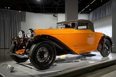 1930 Bugatti Type 46 Cabriolet (Pat Durkin OC) Tags: thepetersen 1930bugatti type46 cabriolet orange wirewheels