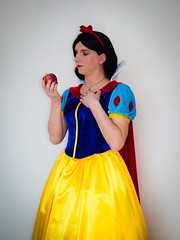 Poisoned Apple (blackietv) Tags: snowwhite princess apple dress full skirt gown petticoat romantic crossdresser tgirl transvestite crossdressing transgender costume cosplay
